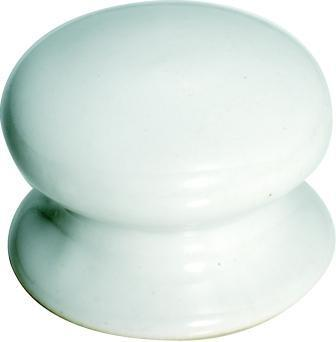 Tradco 'PORCELAIN' CUPBOARD KNOB White 50mm 3732