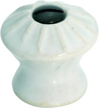Tradco 'PORCELAIN' FACE FIX CUPBOARD KNOB White 25mm 3735