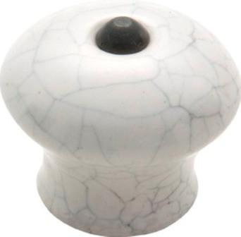 Tradco 'PORCELAIN' CRAZED CUPBOARD KNOB Ivory 38mm 3739