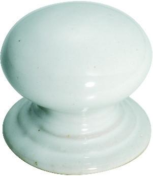Tradco 'PORCELAIN' CUPBOARD KNOB White 30mm 3740
