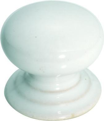Tradco 'PORCELAIN' CUPBOARD KNOB White 35mm 3741