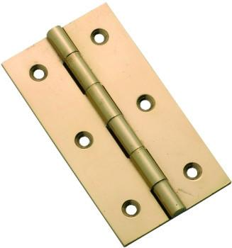 Tradco 'FIXED PIN CABINET HINGE' Polished Brass H76 x W41mm 3754