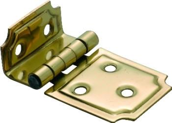 Tradco 'OFFSET HINGE' Polished Brass 50 x 30mm 3767