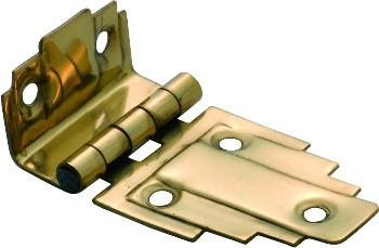 Tradco 'OFFSET HINGE' Polished Brass 63 x 32mm 3768