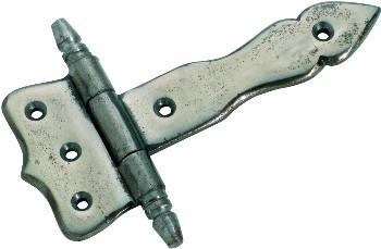 Tradco 'IRON' HINGE Polished Metal H58 W39 L90mm 3795