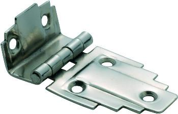 Tradco 'OFFSET HINGE' Satin Nickel 63 x 32mm 3798