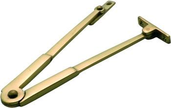 Tradco 'BOX STAY' (PAIR) Polished Brass 150mm 3809