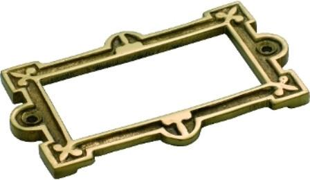Tradco 'CARD HOLDER' Polished Brass 95 x 58mm 3815