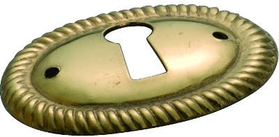 Tradco 'ESCUTCHEON' Polished Brass 40 x 30mm 3817