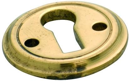 Tradco 'ROUND ESCUTCHEON' Polished Brass 23mm 3818