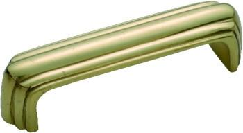 Tradco 'DECO' PULL HANDLE Polished Brass 80 x 19mm 3822
