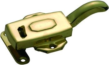 Tradco 'KITCHEN DRESSER LATCH' RIGHT HAND Polished Brass 10mm offset 3832