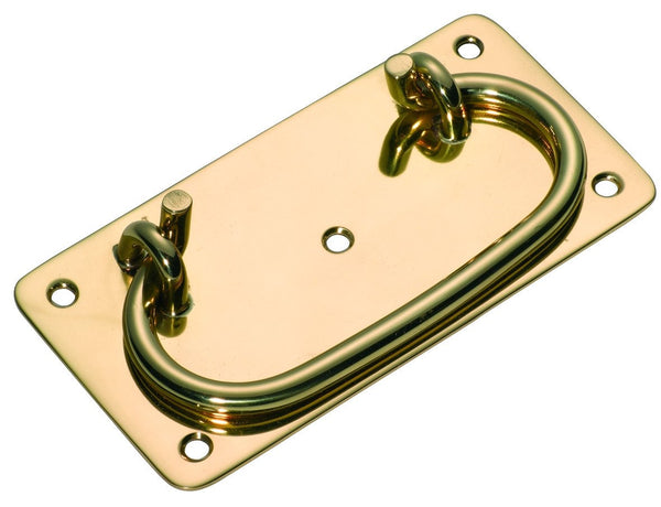Tradco 'TRUNK HANDLE' Polished Brass 130 x 65mm 3856