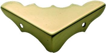 Tradco 'MEDIUM BOX CORNER' Polished Brass 45 x 45 x 15mm 3862