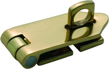 Tradco 'HASP & STAPLE' Polished Brass 50 x 21mm 3883
