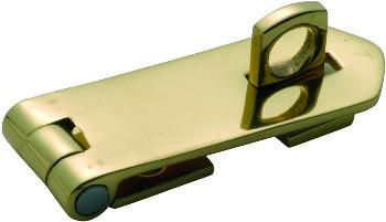 Tradco 'HASP & STAPLE' Polished Brass 60 x 22mm 3884