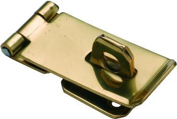 Tradco 'HASP & STAPLE' Polished Brass 75 x 38mm 3885