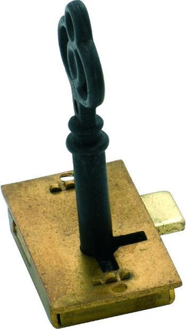 Tradco 'CUPBOARD LOCK' Brass 38 x 20mm 4000