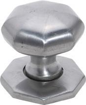 Tradco 'IRON' CUPBOARD KNOB Octagonal with Back Plate Polished Metal 32mm 4095