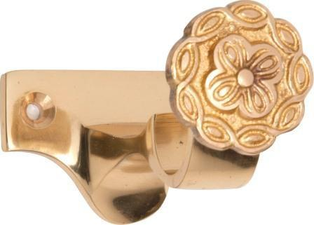 Tradco 'CURTAIN BRACKET - CENTRE' Polished Brass 4606 25mm