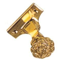 Tradco 'CURTAIN BRACKET - CENTRE' Polished Brass 4601 19mm