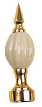 Tradco 'CURTAIN BRACKET - FINIAL' Polished Brass 19mm 4611