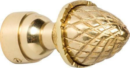 Tradco 'ACORN - FINIAL' Polished Brass 4617 25mm