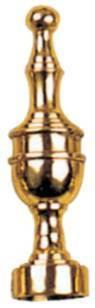 Tradco 'URN - FINIAL' Polished Brass 4613 19mm