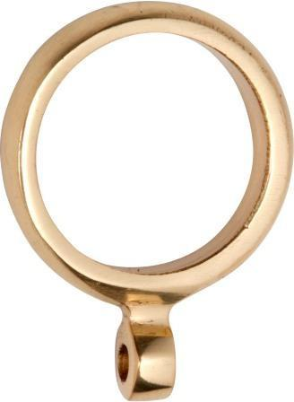 Tradco 'CURTAIN RING' Polished Brass 4630 25mm (Internal)