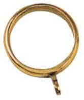 Tradco 'CURTAIN RING' Polished Brass 38mm (Internal) 4632