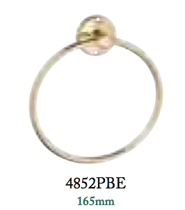 Tradco 'TOWEL RING' Polished Brass 4852 165mm