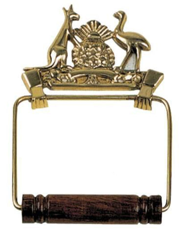 Tradco 'COAT OF ARMS TOILET ROLL HOLDER' Polished Brass 4884
