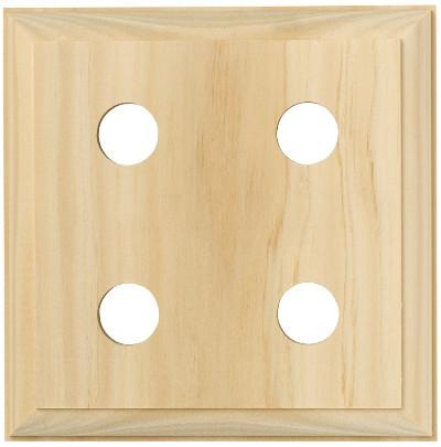 Tradco 'QUAD TRADITIONAL PINE BLOCK' 5445 155mm x 155mm