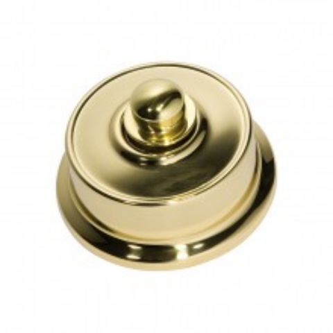 Tradco 'FEDERATION FAN CONTROLLER' Polished Brass D62xP38mm 5492