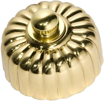 Tradco 'FLUTED FAN CONTROLLER' Polished Brass 5487