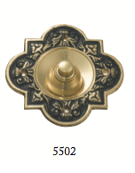 Tradco 'BELL PUSH' Polished Brass 5502 100mm x 100mm