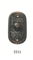 Tradco 'BELL PUSH' Antique Copper 5511 40mm x 80mm