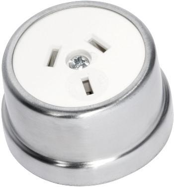 Tradco 'TRADITIONAL SOCKET' Satin Chrome White 5525