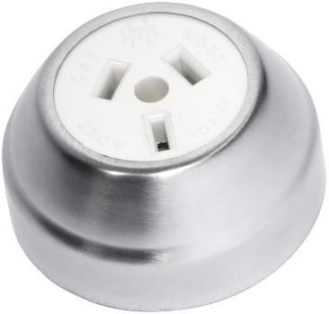 Tradco 'FEDERATION SOCKET' Chrome Plate White D60xP29mm 5535
