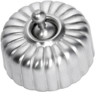 Tradco 'FEDERATION FLUTED SWITCH' Satin Chrome 5540