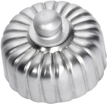 Tradco 'FLUTED FAN CONTROLLER' Satin Chrome D55mm x P40mm 5542