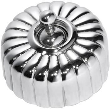 Tradco 'FLUTED SWITCH' Chrome Plate D55 x P40mm 5781