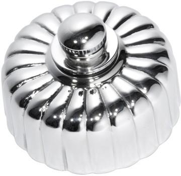 Tradco 'FLUTED DIMMER LED 250T' Chrome Plate D55mm x P40mm 5783/250