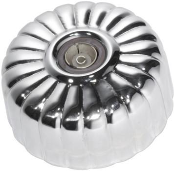 Tradco 'FLUTED TV SOCKET' Chrome Plate 5785