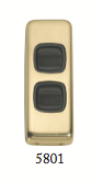 Tradco 'ROCKER DOUBLE SWITCH' Polished Brass Brown 5801 30mm x 82mm