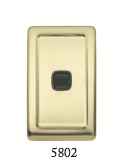 Tradco 'ROCKER SWITCH' Polished Brass Brown 5802 72mm x 115mm