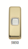 Tradco 'ROCKER SWITCH' Polished Brass 5850 30mm x 82mm