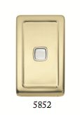Tradco 'ROCKER SWITCH' Polished Brass 5852 72mm x 115mm