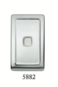 Tradco 'ROCKER SWITCH' Chrome Plate 5882 72mm x 115mm