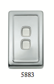 Tradco '2 ROCKER SWITCH' Chrome Plate 5883 72mm x 115mm